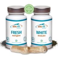 Dental Cate für Hunde - WHITE dental & FRESH plus Kaustick aus dem Holz des Kaffeebaums - DOG FIT by PreThis®