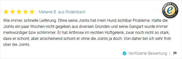Trusted Shops JOINTS Bewertung